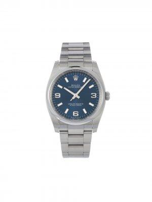 Наручные часы Oyster Perpetual pre-owned 34 мм 2020-го года Rolex. Цвет: голубой