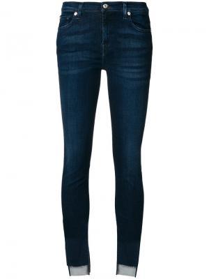 Асимметричные джинсы с асимметричными манжетами 7 For All Mankind. Цвет: синий