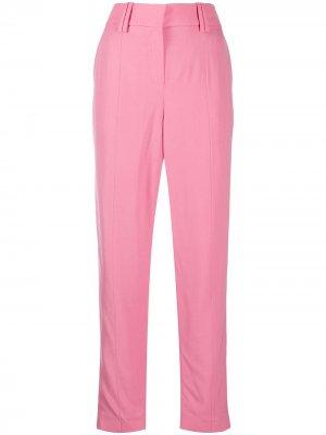 Зауженные брюки строгого кроя Balmain. Цвет: розовый