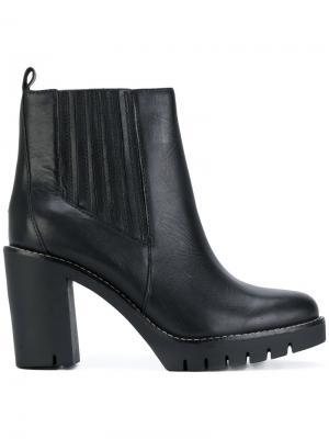 Ботинки Челси на каблуках Tommy Hilfiger. Цвет: черный