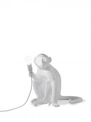 Настольная лампа Monkey Sitting Seletti. Цвет: белый