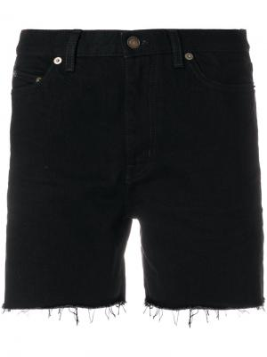 Джинсовые шорты мешковатого кроя Saint Laurent. Цвет: черный