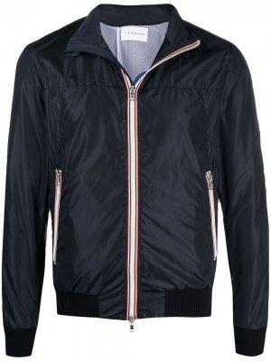 Куртка с капюшоном и контрастной отделкой Low Brand. Цвет: синий
