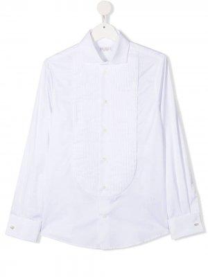 Рубашка с манишкой Brunello Cucinelli Kids. Цвет: белый