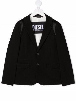 Пиджак Jmorat на пуговицах Diesel Kids. Цвет: черный