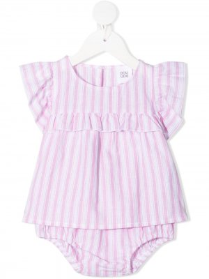 Полосатый комплект для новорожденного Douuod Kids. Цвет: розовый