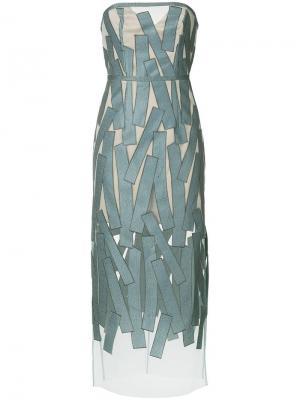 Платье-бандо Altered Carbon Manning Cartell. Цвет: коричневый