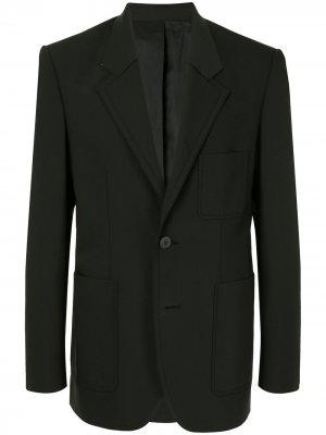 Однобортный пиджак узкого кроя Wooyoungmi. Цвет: черный
