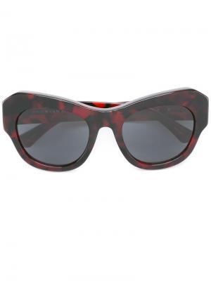 Солнцезащитные очки Dries Van Noten by Linda Farrow Gallery Eyewear. Цвет: красный