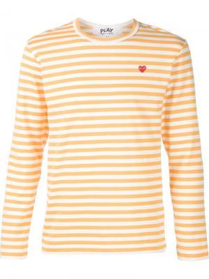 Полосатая кофта с длинными рукавами Comme Des Garçons Play. Цвет: желтый