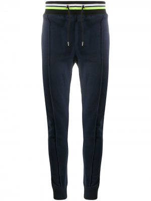 Спортивные брюки с логотипом сзади Frankie Morello. Цвет: синий