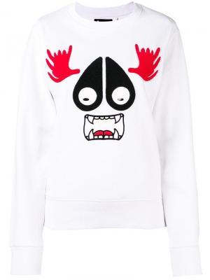Mascot sweatshirt Moose Knuckles. Цвет: белый