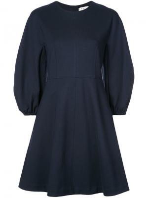 Структурное вязаное платье Tibi. Цвет: черный