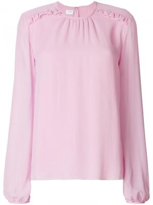 Блузка с оборками Giambattista Valli. Цвет: розовый
