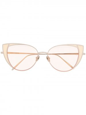 Солнцезащитные очки Des Vouex Linda Farrow. Цвет: нейтральные цвета