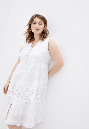 Платье пляжное Fabretti. Цвет: белый