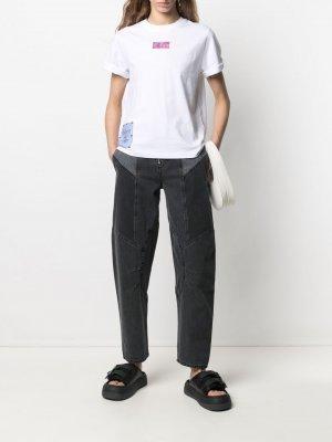 Зауженные джинсы с завышенной талией MCQ. Цвет: черный