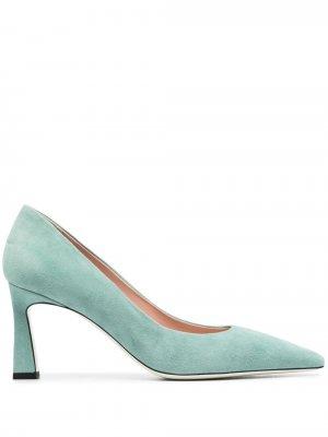 Туфли-лодочки с заостренным носком Pollini. Цвет: зеленый