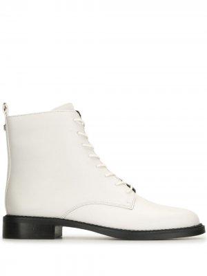 Ботинки на шнуровке Sam Edelman. Цвет: белый