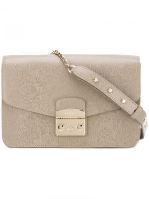 Классическая сумка на плечо Furla. Цвет: телесный