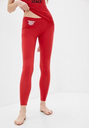 Леггинсы Dsquared2 Underwear. Цвет: красный