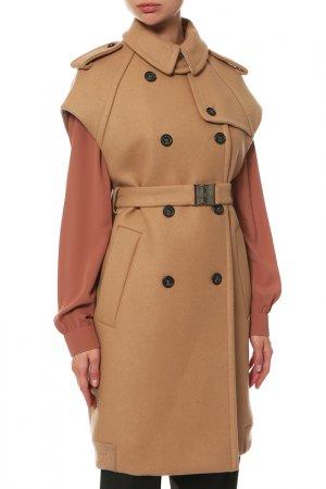 Пальто без рукавов N°21. Цвет: коричневый