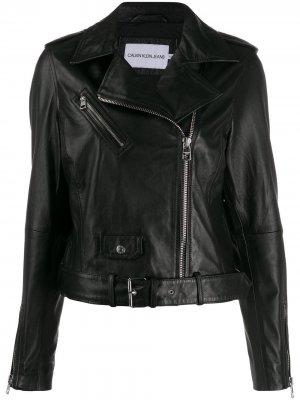 Байкерская куртка на молнии Calvin Klein Jeans. Цвет: черный
