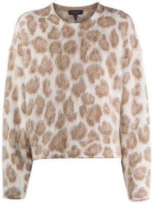 Джемпер с леопардовым узором Rag & Bone. Цвет: коричневый