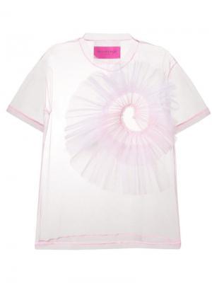 Sheer T-shirt Viktor & Rolf. Цвет: розовый