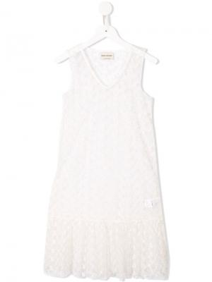 Floral lace sleeveless dress Bobo Choses. Цвет: белый