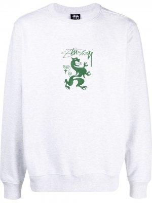 Толстовка с вышитым логотипом Stussy. Цвет: нейтральные цвета