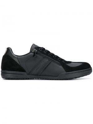 Кроссовки с молнией Trussardi Jeans. Цвет: черный