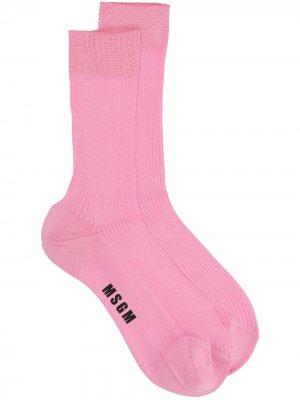 Носки с логотипом MSGM. Цвет: розовый
