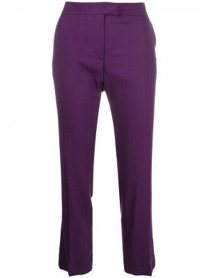 Укороченные брюки кроя слим PS Paul Smith. Цвет: фиолетовый