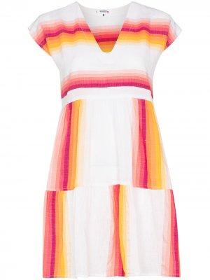 Платье-кафтан Teref с полосками lemlem. Цвет: белый