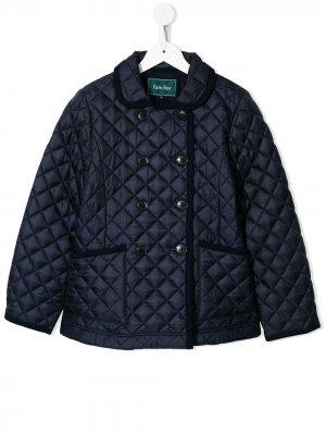 Стеганая куртка Familiar. Цвет: синий