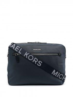 Сумка для ноутбука с логотипом Michael Kors Collection. Цвет: синий
