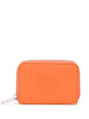Маленький кошелек на молнии Kenzo. Цвет: оранжевый
