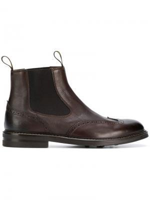 Ботинки без застежки Doucal's. Цвет: коричневый