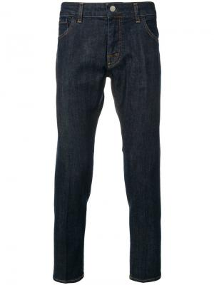 Укороченные джинсы Entre Amis. Цвет: синий