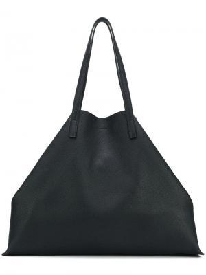 Большая сумка-тоут Jil Sander. Цвет: черный