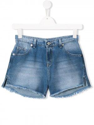 Джинсовые шорты Flirting Chiara Ferragni Kids. Цвет: синий