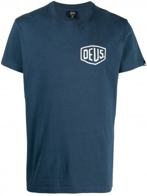 Футболка с логотипом Deus Ex Machina. Цвет: синий