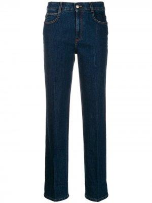 Прямые джинсы с принтом Monogram на подворотах Stella McCartney. Цвет: синий