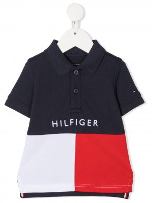 Рубашка поло в стиле колор-блок Tommy Hilfiger Junior. Цвет: синий