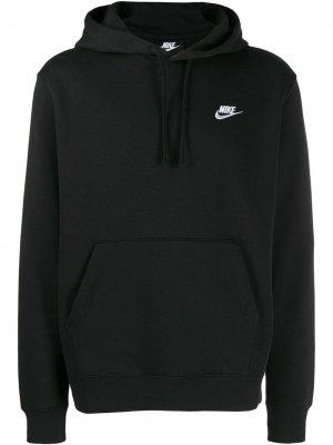 Худи с вышитым логотипом Nike. Цвет: черный