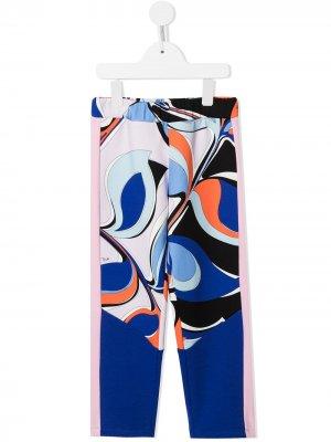 Легинсы с принтом Quirimbas Emilio Pucci Junior. Цвет: синий
