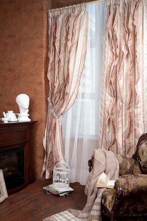 Комплект штор саманта, 200х275 Daily by T. Цвет: бордовый