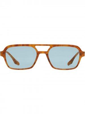 Солнцезащитные очки Kings в массивной оправе Gentle Monster. Цвет: синий