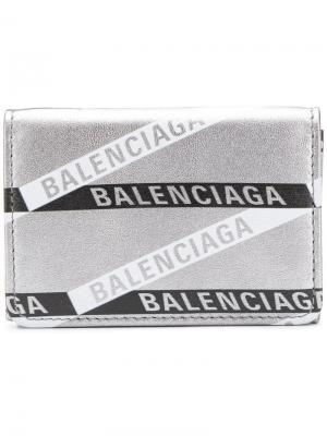Everyday mini wallet Balenciaga. Цвет: серебряный